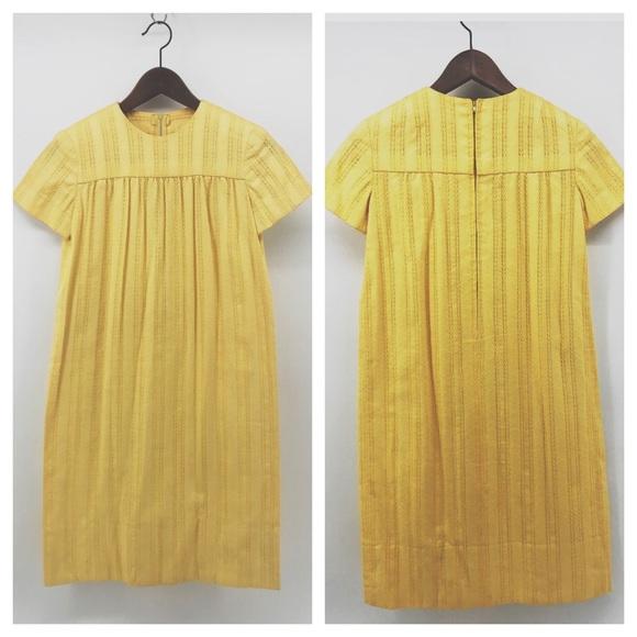 Other - VTG Golden Yellow Handmade Girls Maxi Dress
